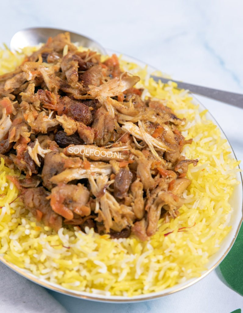 saffraanrijst kip wortel saffraan rijst persian rice recipe recept