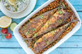 spicy geroosterde makreel recept