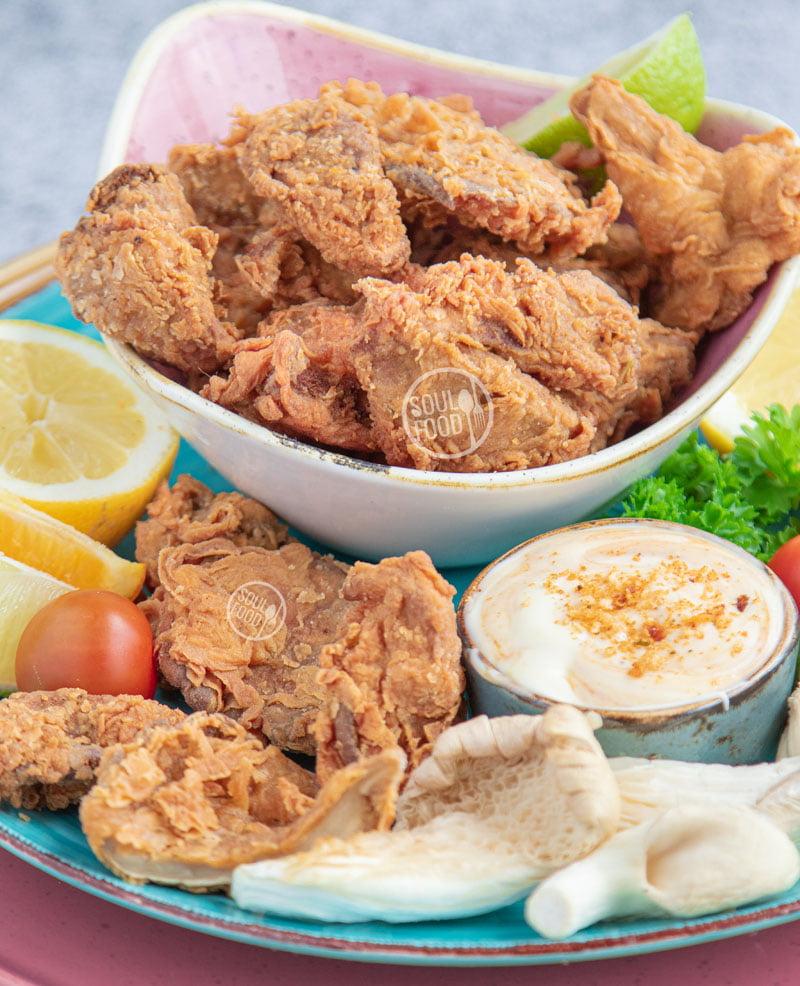 vegan fried chicken oesterzwammen gebakken KFC KFO kentucky fried chicken