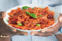 vegan paprika pasta roomsaus snelle recepten snel reecpt