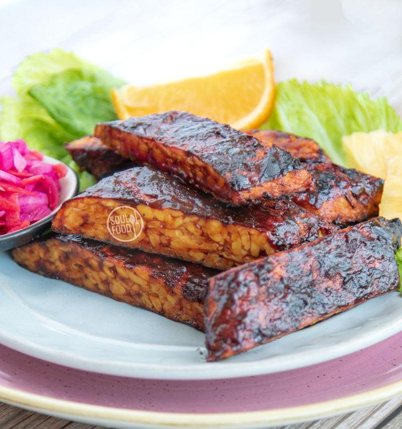 vegan spareribs ribs veganistisch vegetarisch barbecue recept tempeh