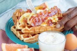 Elvis waffles elvis sandwich maxima recept