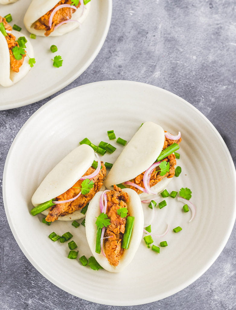 gestoomde broodjes recept bao buns bapao lotusbroodjes fried chicken kip