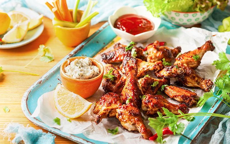 hot wings kippenvleugels recept KFC zelf maken