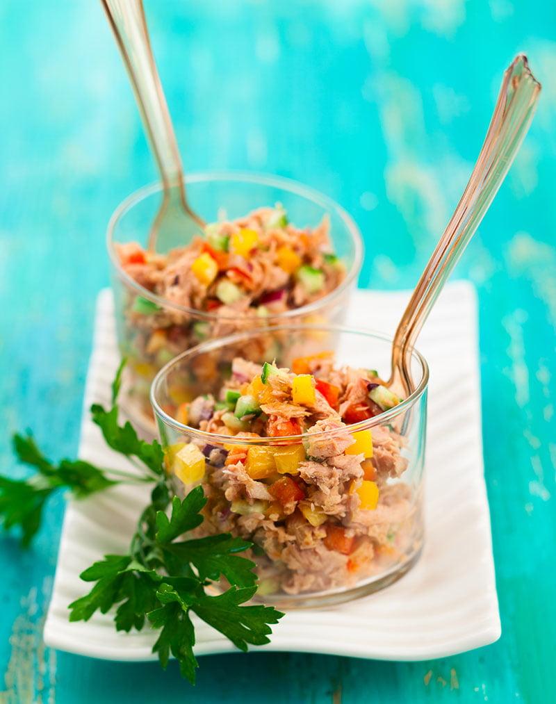 Gezonde tonijnsalade tonijn salade paprika healthy recept keto low carb