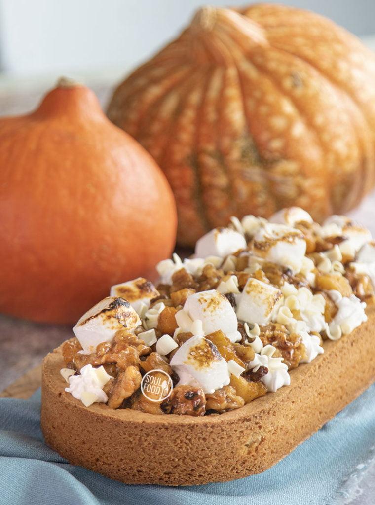 pumpkin spice slof herfstslof met appel en walnoot